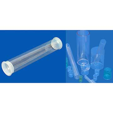 Image Tube plastique transparent, tube d'expedition