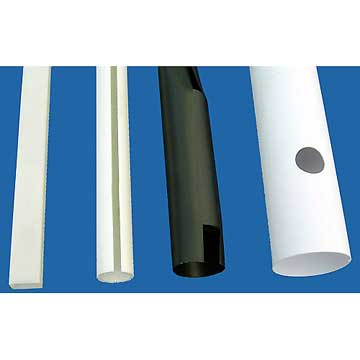 Image Tube plastique fendu, tube plastique perforé